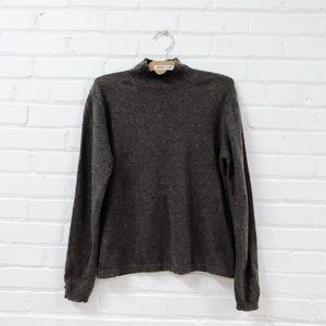 HOLT RENFREW brown wool sweater